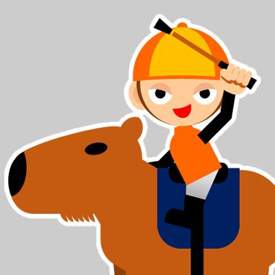 カピバラに乗る騎手のアイコン(31)画像