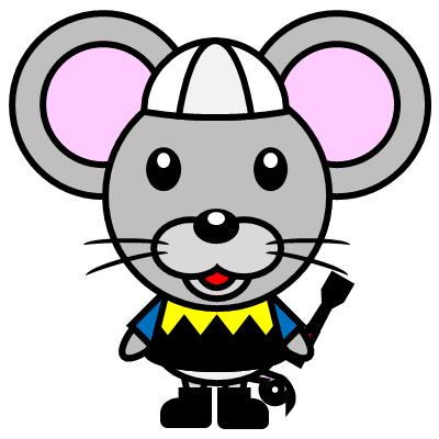 騎手衣装を着たネズミのアイコン(1)画像