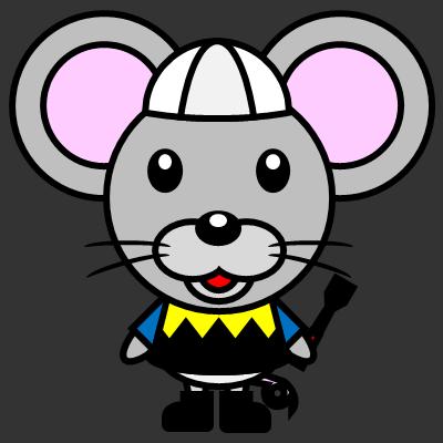 騎手衣装を着たネズミのアイコン(1)画像2
