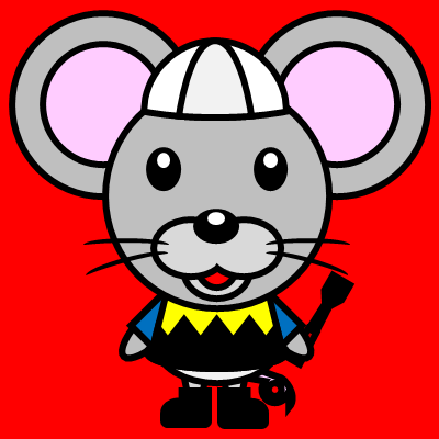 騎手衣装を着たネズミのアイコン(1)画像3
