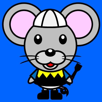 騎手衣装を着たネズミのアイコン(1)画像4