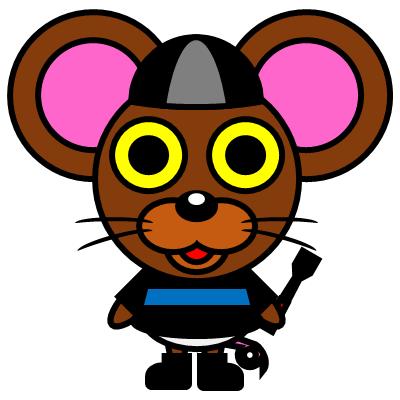 騎手衣装を着たネズミのアイコン(2)画像
