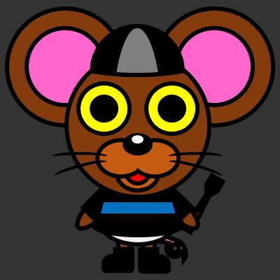 騎手衣装を着たネズミのアイコン(2)画像2