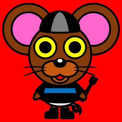 騎手衣装を着たネズミのアイコン(2)画像3