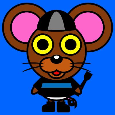 騎手衣装を着たネズミのアイコン(2)画像4
