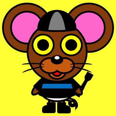 騎手衣装を着たネズミのアイコン(2)画像5
