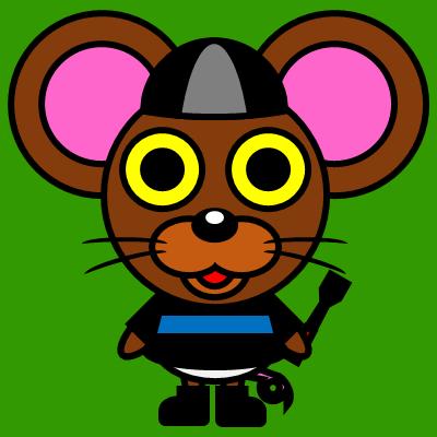 騎手衣装を着たネズミのアイコン(2)画像6