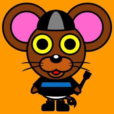 騎手衣装を着たネズミのアイコン(2)画像7