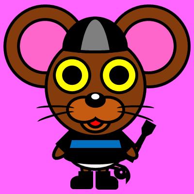 騎手衣装を着たネズミのアイコン(2)画像8