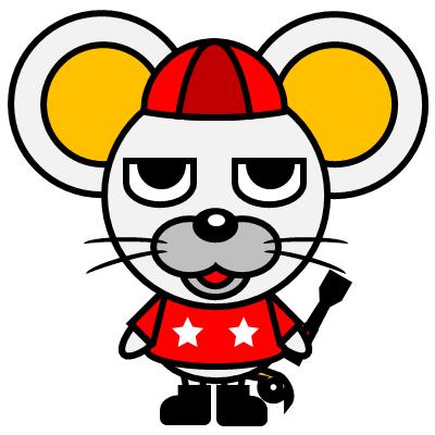 騎手衣装を着たネズミのアイコン(3)画像