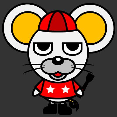 騎手衣装を着たネズミのアイコン(3)画像2