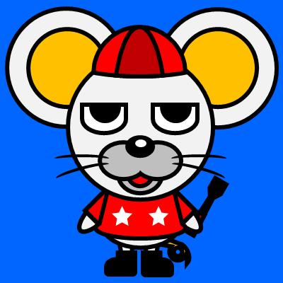 騎手衣装を着たネズミのアイコン(3)画像4
