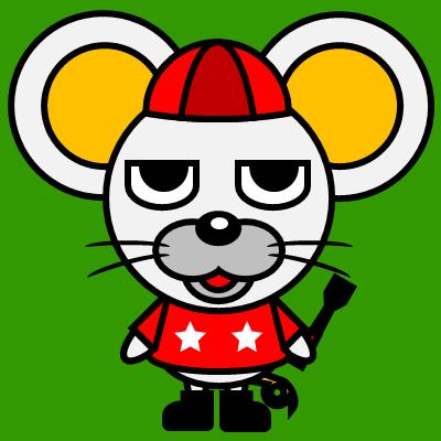 騎手衣装を着たネズミのアイコン(3)画像6