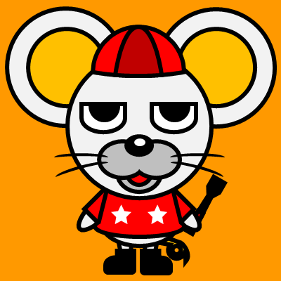 騎手衣装を着たネズミのアイコン(3)画像7