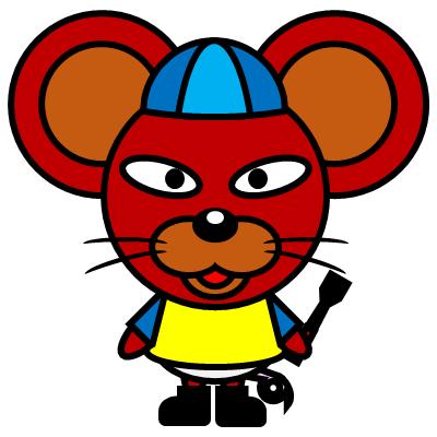 騎手衣装を着たネズミのアイコン(4)画像