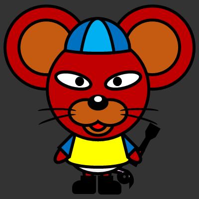 騎手衣装を着たネズミのアイコン(4)画像2