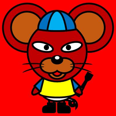 騎手衣装を着たネズミのアイコン(4)画像3