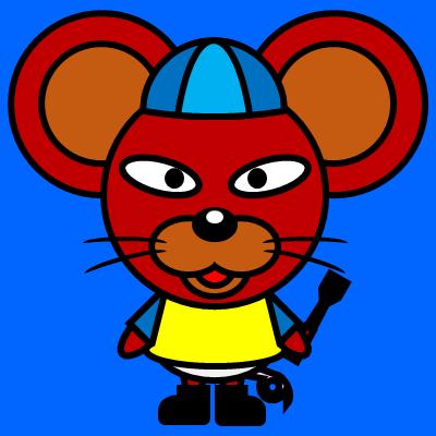 騎手衣装を着たネズミのアイコン(4)画像4