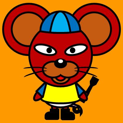 騎手衣装を着たネズミのアイコン(4)画像7