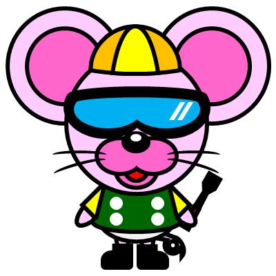 騎手衣装を着たネズミのアイコン(5)画像