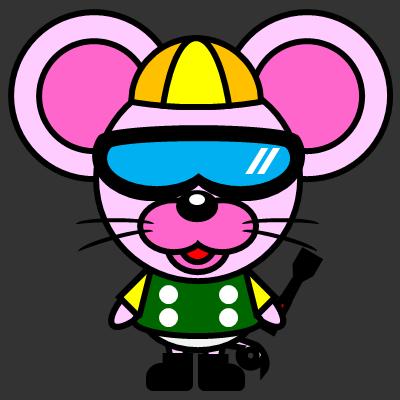 騎手衣装を着たネズミのアイコン(5)画像2