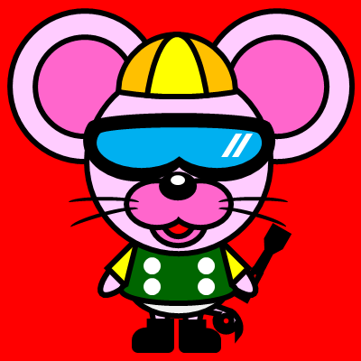 騎手衣装を着たネズミのアイコン(5)画像3