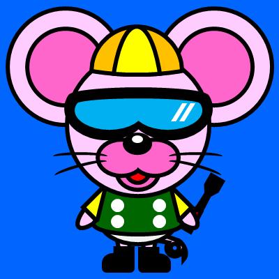 騎手衣装を着たネズミのアイコン(5)画像4