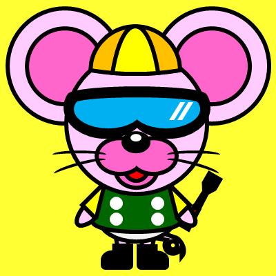 騎手衣装を着たネズミのアイコン(5)画像5