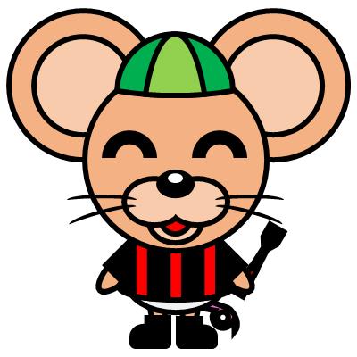騎手衣装を着たネズミのアイコン(6)画像