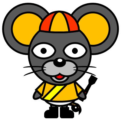 騎手衣装を着たネズミのアイコン(7)画像