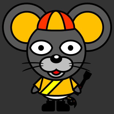 騎手衣装を着たネズミのアイコン(7)画像2