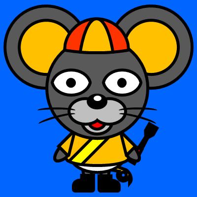 騎手衣装を着たネズミのアイコン(7)画像4