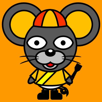 騎手衣装を着たネズミのアイコン(7)画像7