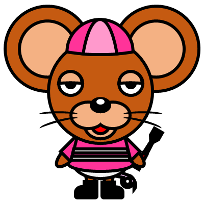 騎手衣装を着たネズミのアイコン(8)画像