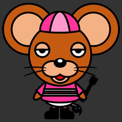 騎手衣装を着たネズミのアイコン(8)画像2