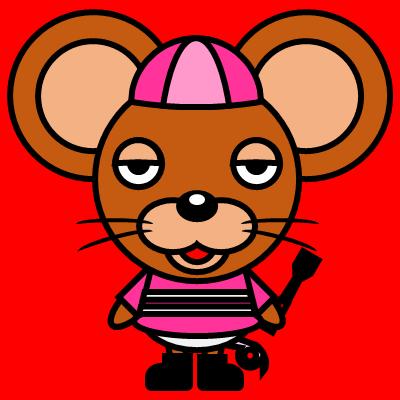 騎手衣装を着たネズミのアイコン(8)画像3
