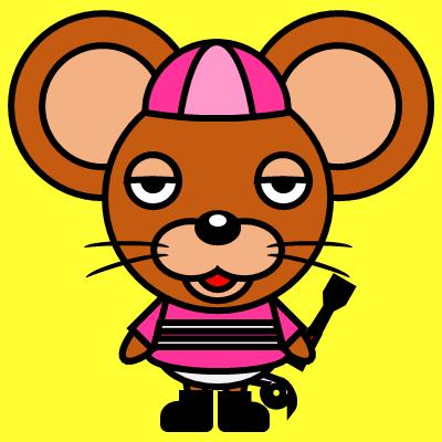 騎手衣装を着たネズミのアイコン(8)画像5