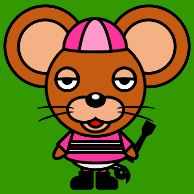 騎手衣装を着たネズミのアイコン(8)画像6