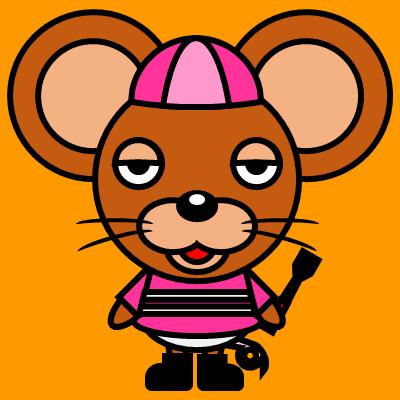 騎手衣装を着たネズミのアイコン(8)画像7