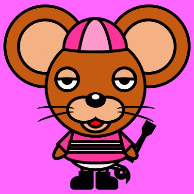 騎手衣装を着たネズミのアイコン(8)画像8