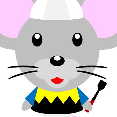 騎手衣装を着たネズミのアイコン(9)画像