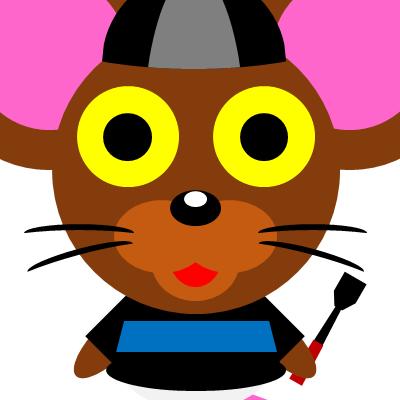 騎手衣装を着たネズミのアイコン(10)画像