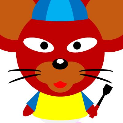 騎手衣装を着たネズミのアイコン(12)画像