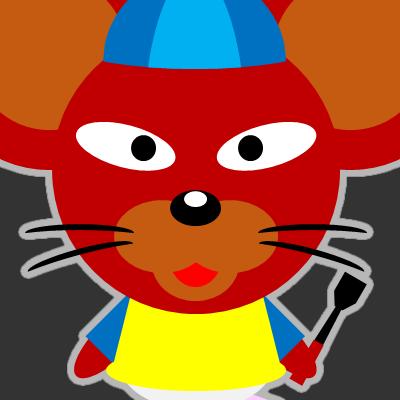 騎手衣装を着たネズミのアイコン(12)画像2