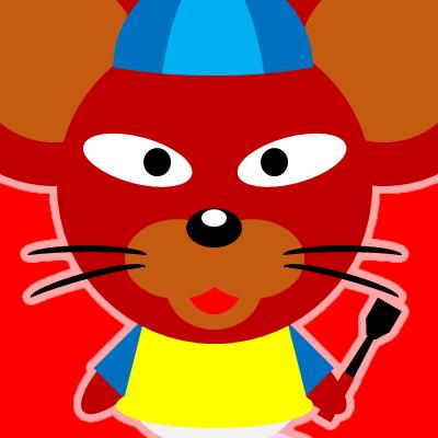 騎手衣装を着たネズミのアイコン(12)画像3