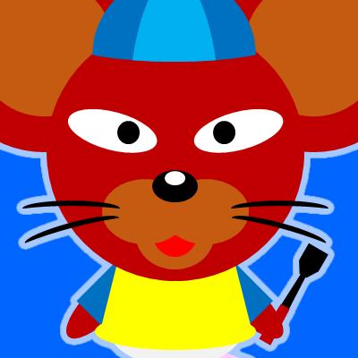 騎手衣装を着たネズミのアイコン(12)画像4