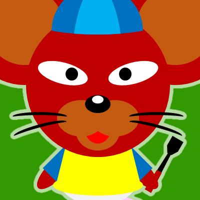 騎手衣装を着たネズミのアイコン(12)画像6
