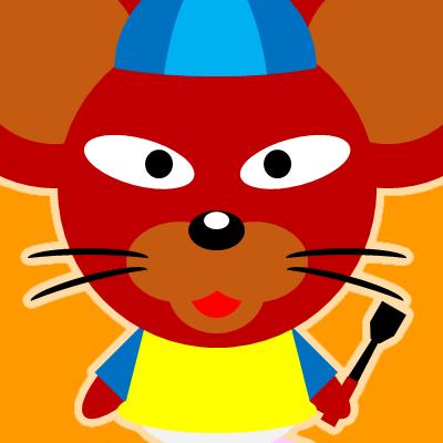 騎手衣装を着たネズミのアイコン(12)画像7