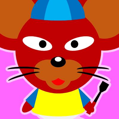 騎手衣装を着たネズミのアイコン(12)画像8