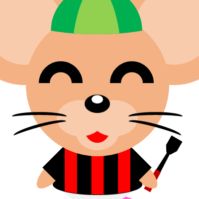 騎手衣装を着たネズミのアイコン(14)画像